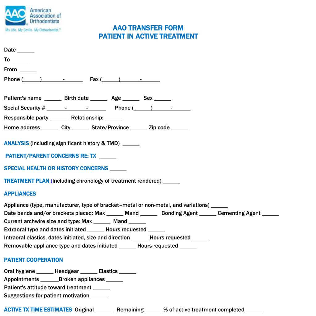 aao transfer form orthodontics transfers from randolph county indiana