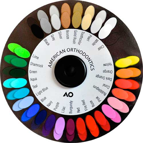 Braces Color Wheel What does your favorite elastics color say about ...